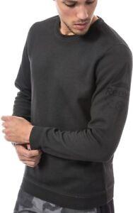 4a37459f Details about Reebok Quik Cotton Mens Sweatshirt Long Sleeve Top Gym  Training