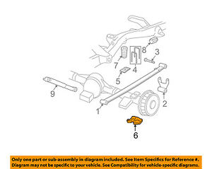 Details about GM OEM Rear Suspension-U-bolt Plate 25761310