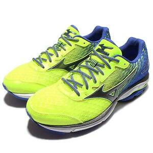 Mizuno-Wave-Rider-19-2E-Wide-Green-Blue-Men-Running-Trainers-Shoes-J1GC16-0490