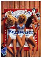 Budweiser Beer  *LARGE POSTER*  Sexy Bikini Girls - Promo ad  Bar Saloon Pic