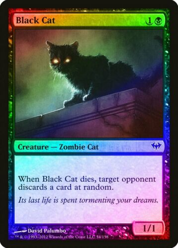 Black Cat FOIL Dark Ascension NM Black Common MAGIC GATHERING CARD ABUGames
