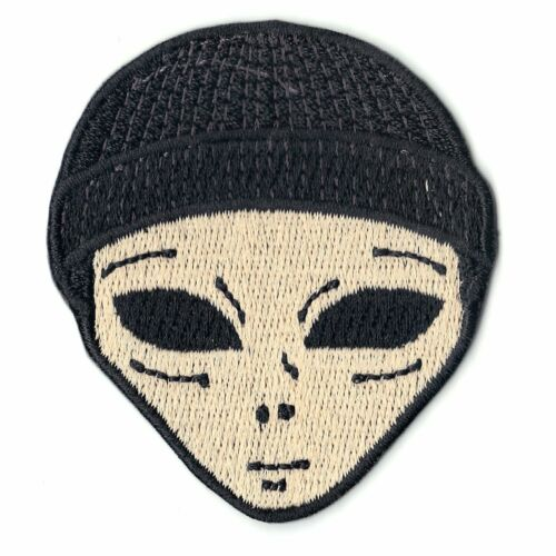 Lil Mayo Alien With Beanie Iron On Round Icon Iron On Embroidered Patch
