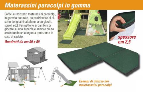 TAPPETINO PER CASETTE BAMBINI TAPPETO MODULABILE IN GOMMA PER SCIVOLI CM.50X50