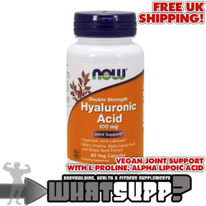 NOW-Hyaluronic-Acid-Double-Strength-100mg-x60-vegan-caps-JOINT-SUPPORT-LUBRICANT