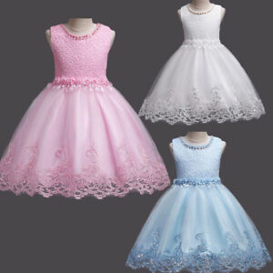 fbc64d17554890 Girls Sequins Tutu Lace Ball Gown Kids Birthday Party Wedding Xmas ...