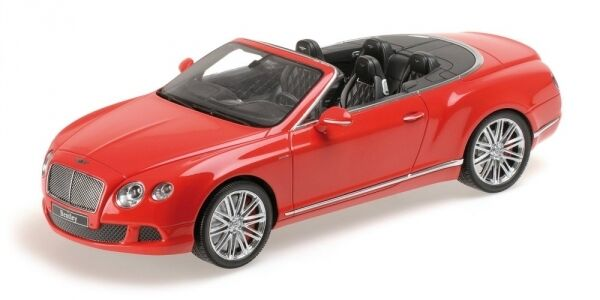 Bentley Continental Gt Speed Congrönible 2013 Röd 1 18 modellllerlerl MINISTAMPS