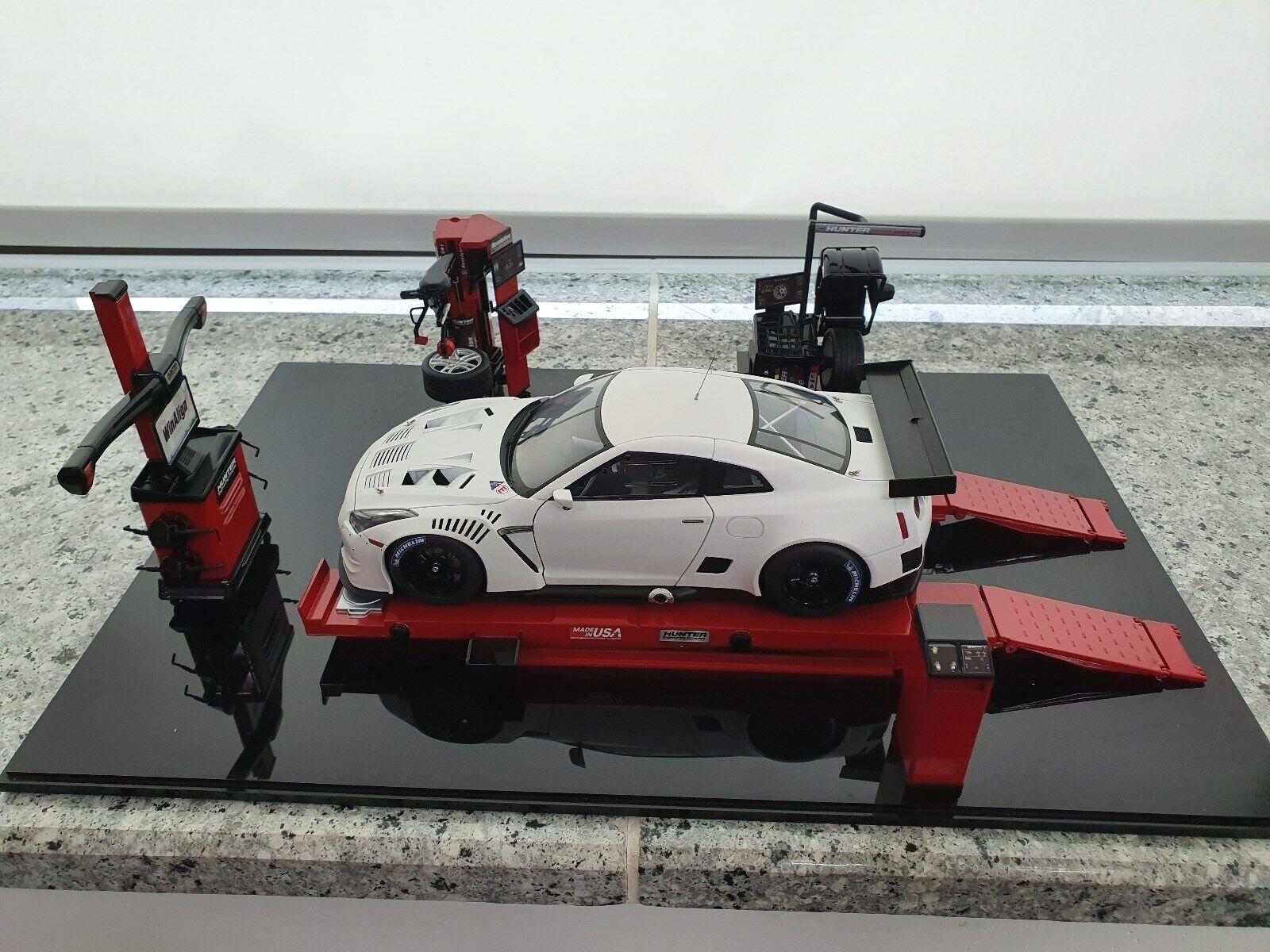 118 LIFT Rack Balancer TIRE changer Set Completo Garage Officina Diorama
