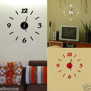 Moderno n mero reloj de pared cuarto de estar bricolaje 3d decoraci n hogar ebay - Decoracion cuarto de estar ...