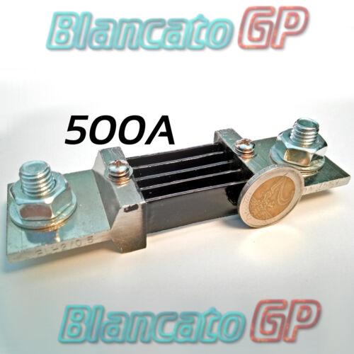 RESISTENZA DI SHUNT 500A 75mv CLASSE 0.5 DC amperometro voltmetro ampere amp din