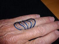 Park Lane Jewelry, riptide Ring, Size-10, Sapphires, Hematite,