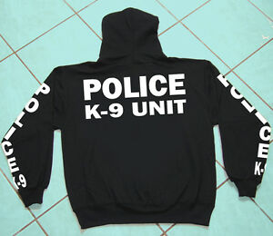 Police K-9 Unit, Hooded Sweat Shirt, Business, Professional, Heavy Weight Gildan