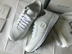 Gucci-sneakers-White-Leather-Size-US-8-5-EU-42-5-Made-in-Italy