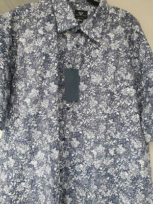 Responsible Manica Corta Navy Camicia Floreale Da Cotton Valley 2xl3xl4xl5xl6xl7xl8xl To Help Digest Greasy Food Shirts Men's Clothing