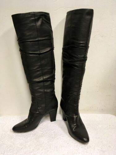 Leather Knee All Size Boots Hobbs 38 Black 5 High Heeled tqF5EwP
