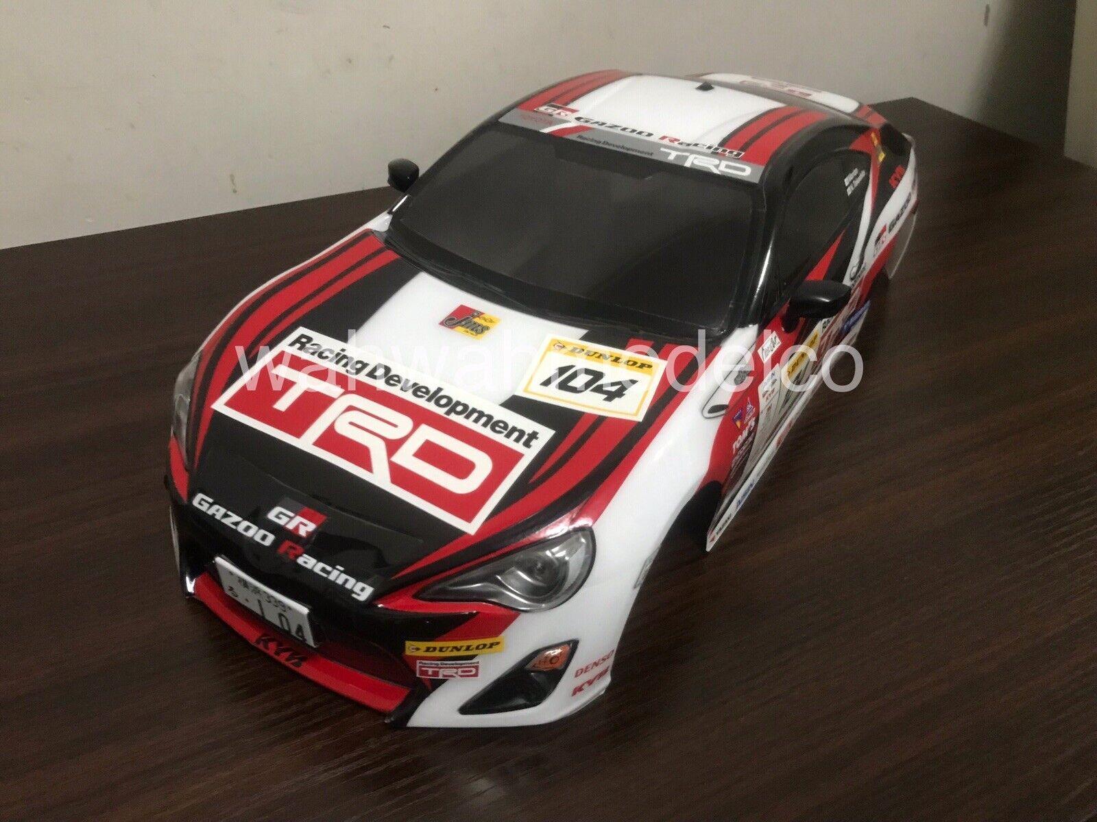 Tamiya 18084440 1  10 RC auto GAZOO Racing TRD 46626 51541 58574 finito corpo  molte concessioni