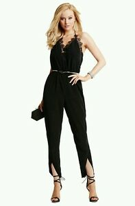f64934e7c0 Image is loading GUESS-BY-MARCIANO-SAMANTHA-LACE-JUMPSUIT