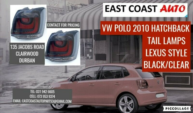 VW POLO 2010 HATCHBACK TAIL LAMPS