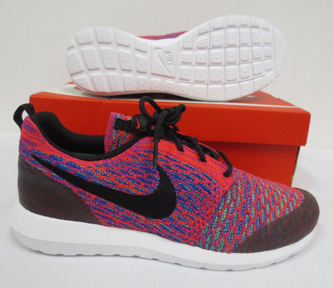Nike roshe nm flyknit se dimensioni 10,5 scarpe 816531 600 uomini a walknig nuova