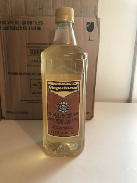 Starbucks Gingerbread Flavored Coffee Syrup 1-liter Bottle ...