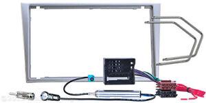 Radio-Blende-Doppel-DIN-OPEL-Meriva-SUZUKI-Ignis-Wagon-Einbau-Rahmen-Adapter-ISO