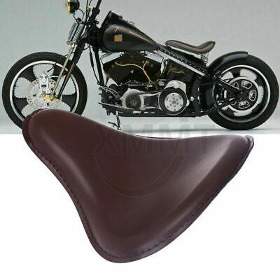 Motorcycle Brown Slimline Spring Solo Seat for Harley Chopper Bobber Custom New