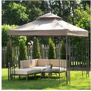 Image is loading Garden-Gazebo-Canopy-Cover-Pergola-Party-Tent-8- & Garden Gazebo Canopy Cover Pergola Party Tent 8 x 8 Foot Patio Sun ...