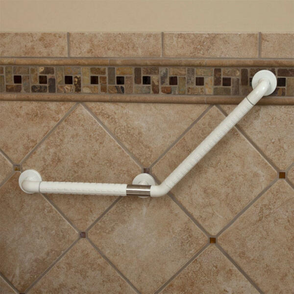 Signature Hardware Marion Large Angled Grab Bar Ada Compliant in off ...