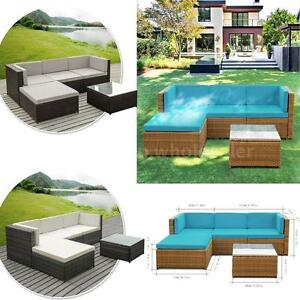 Garden Furniture Sofa Sets ikayaa 5pcs pe rattan patio garden furniture sofa set outdoor
