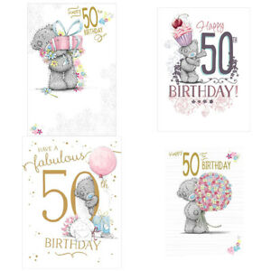 Image Is Loading Me To You Bear 50th Birthday Cards Assorted