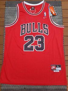 Détails sur Taille L Maillot Chicago Bulls JORDAN NEUF ! NBA Basketball Michael 23