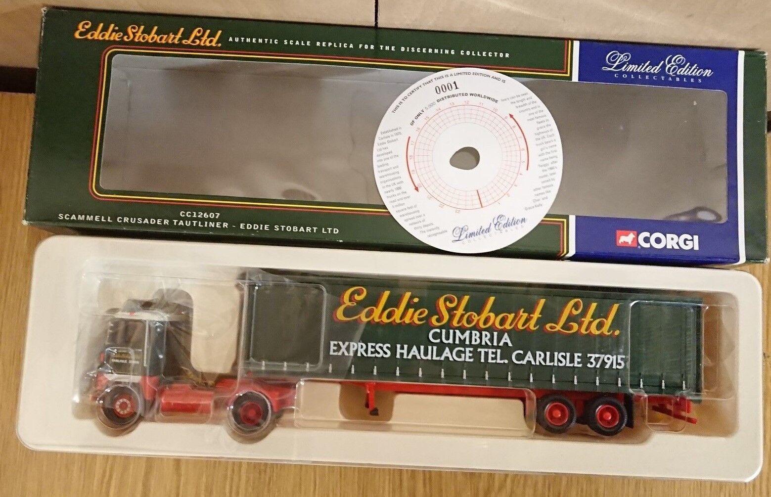 CORGI CC12607 SCAMMELL crusader & remorque Eddie Stobart ltd edition 0001 de 5000