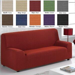 Detalles De Funda Para Sofa Sillon 1 2 3 Plazas 10 Colores Diferentes Elastica