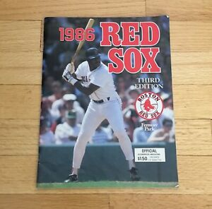 Boston-Red-Sox-Fenway-Park-Official-1986-Program-Scorebook-Magazine-Don-Baylor