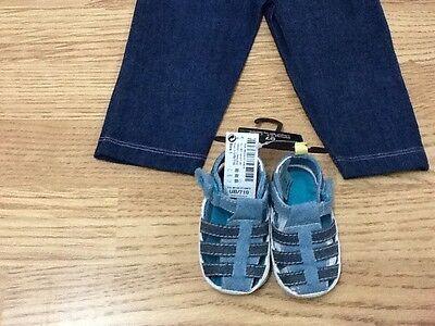 Marca Nuevo Bebé Chicas Tamaño 3-6 meses-Top, Jean Calzas & Suave Zapatos