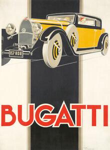 Bugatti : 1930 : René Vincent :  Archival Quality Art Print