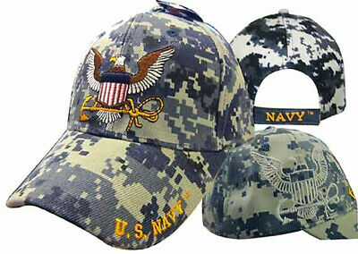 Navy USN Veteran Emblem Vet Textured Mesh Blue 3D Embroidered Cap Hat 592H U.S
