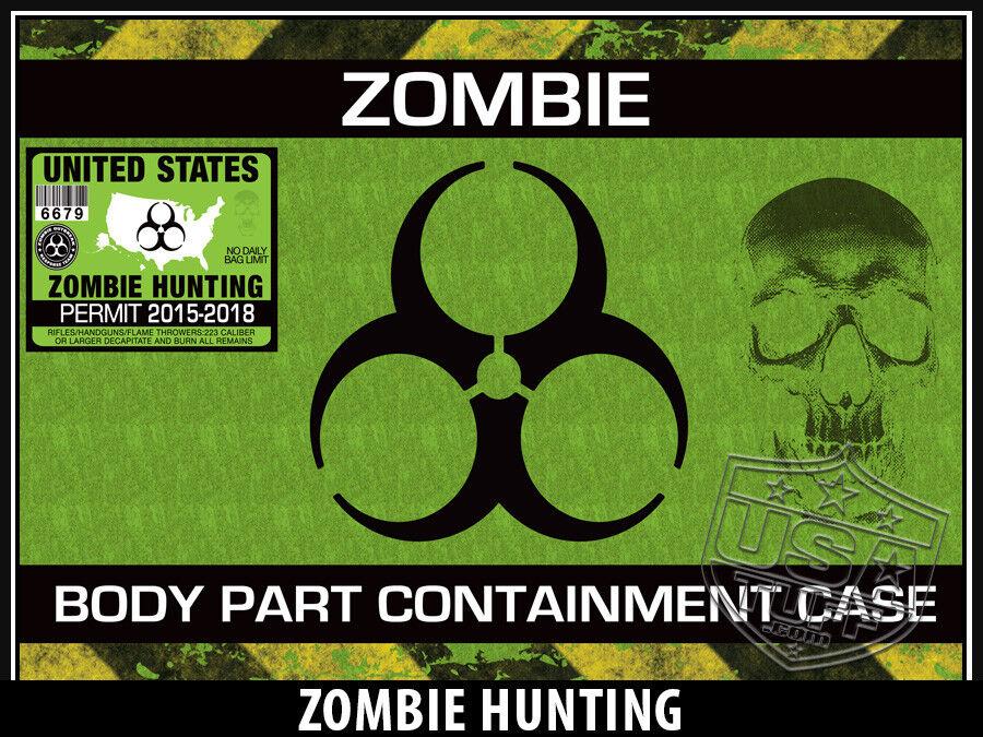USATuff Custom Cooler Wrap Decal fits YETI 20qt Roadie 20qt YETI FULL Zombie Hunting a8e803
