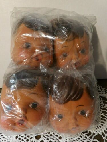 NEW old stock hands 1980/'s Vintage 3 inch by 4 inch 12 Doll Faces with Bottle