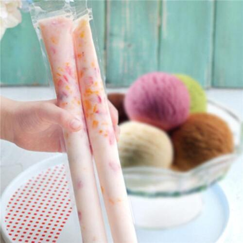 20Pcs//Bag Disposable Ice Cream Candy Popsicle Freezer Mold Tube Bags OO