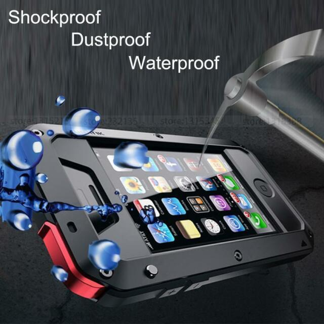 new style ba47d c151d Waterproof Aluminum Metal GORILLA Glass Military Armor Shockproof Cover Case