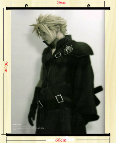 Final Fantasy Hot Game Art Silk Cloud Strife Wall Scroll Poster 60x90cm