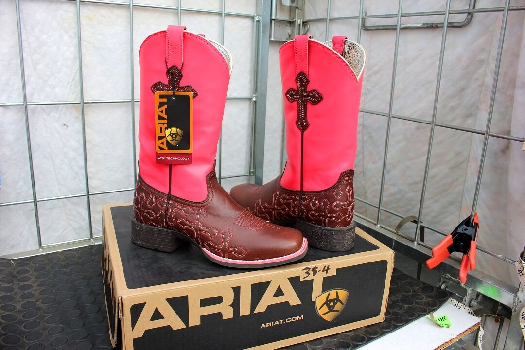 38-4 Ariat Crossroads womens 6B western boots NEON PINK was 189.95