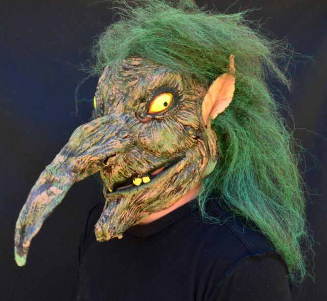 768583bedcd19 Creepy Scary Halloween Witch Mask Latex 2018 Costume Mask Evil Warlock