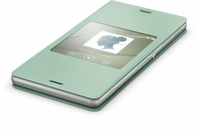Genuine Sony Cover Window SCR24 Protective Cover Turquoise For Xperia Z3