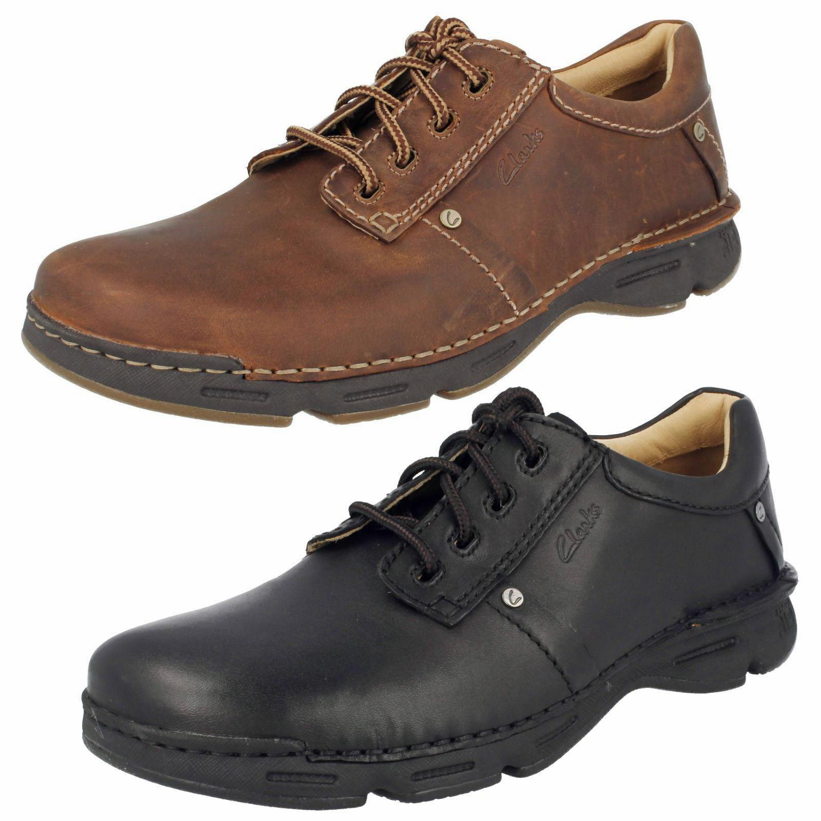 Herren Rico Park Leder Schnürbar Schuhe von Clarks