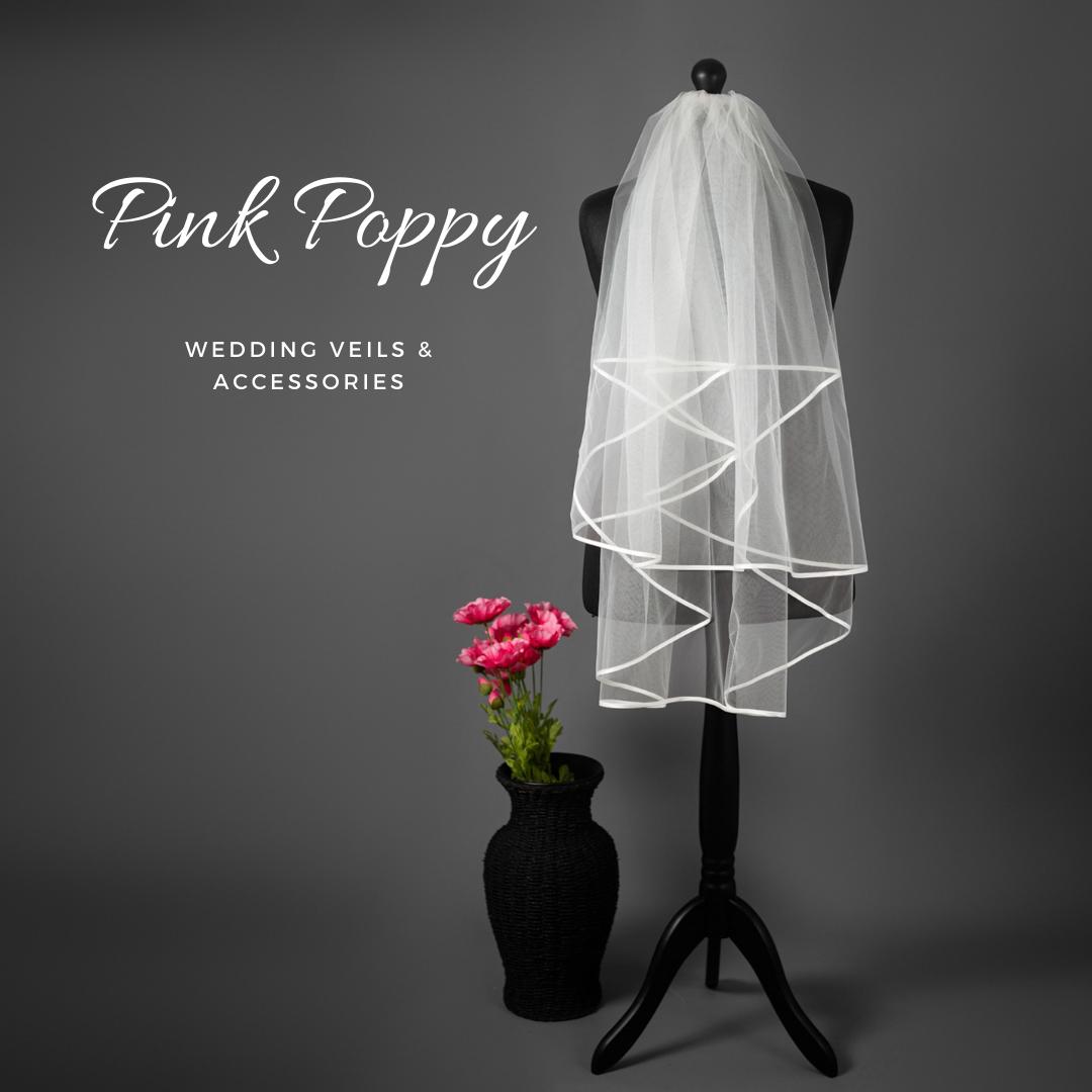 2 Tier Ivory Wedding veil Plain, Swarovski,Rhinestones or Pearl-UK seller