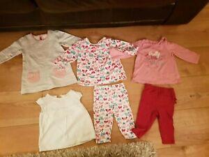 100% De Qualité George @ Asda Baby Girl Clothes Bundle 3-6 Mois Hauts Et Legging-afficher Le Titre D'origine