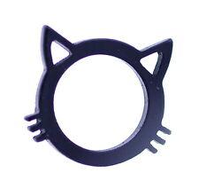 anillo del gatito del gato negro muy fresco , Tamaño del Reino Unido N