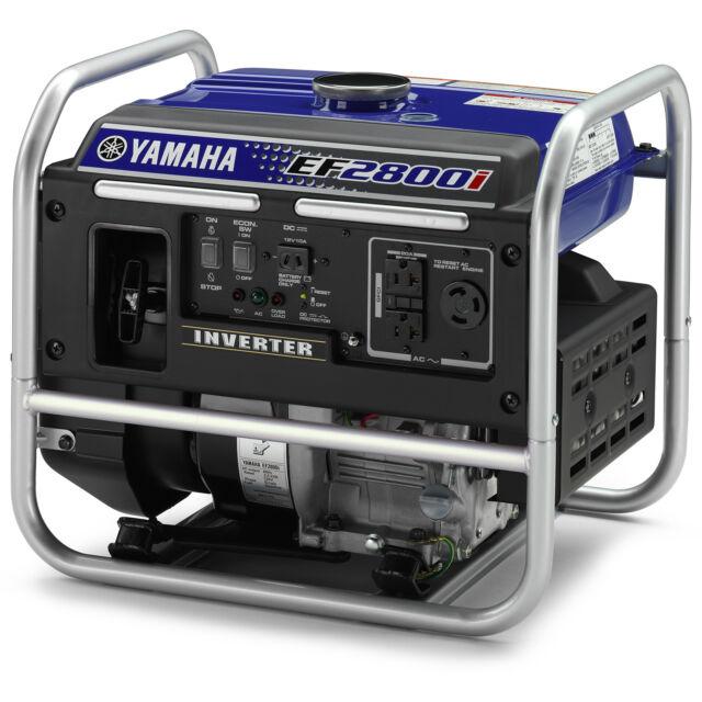 Yamaha EF2800i 2,800 Watt Gas Powered Portable RV Home Inverter Power  Generator