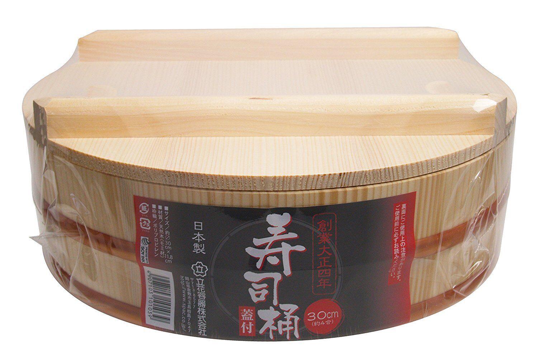 Details about Hangiri, Handai, Sushi Oke 30cm with Lid